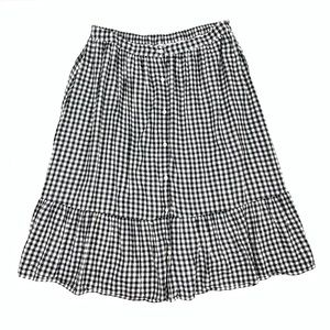 Old Navy Button Front Gingham Skirt size L